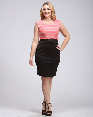 TWO TONE BOW DRESS - orangeshine.com