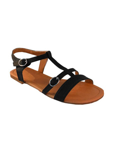 STRAPPY FLATS WITH BUCKLES - orangeshine.com