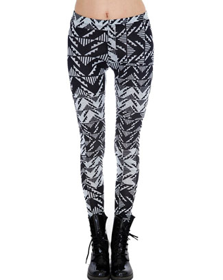 TRIBAL PRINT SWEATER LEGGINGS - orangeshine.com