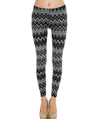 CHEVRON PRINT SWEATER LEGGINGS - orangeshine.com