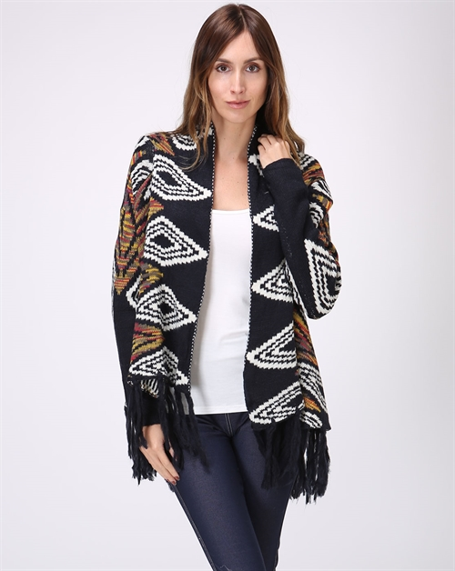 Diamond Knit Cardigan - orangeshine.com