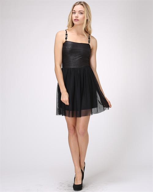 Strap Accent Classic Dress - orangeshine.com