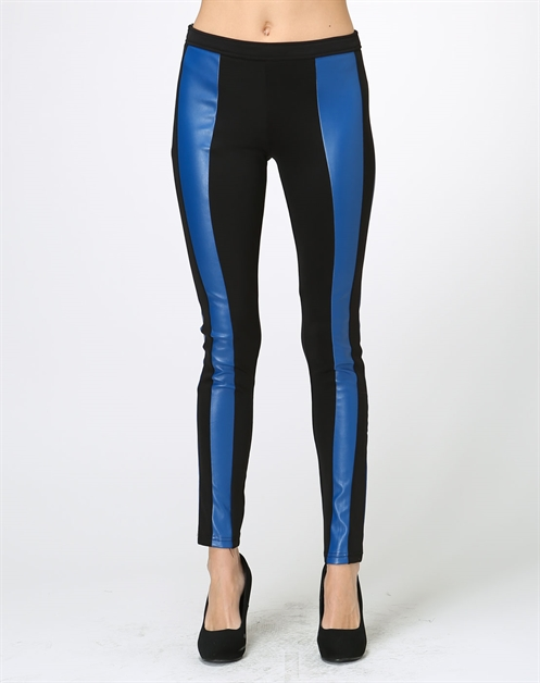 Blue Leather Legging - orangeshine.com