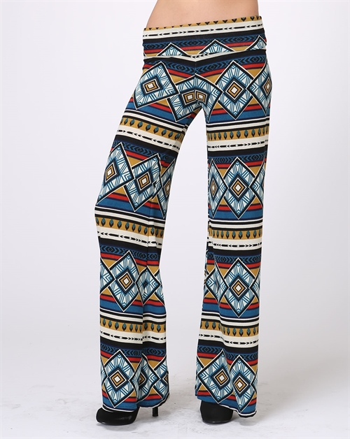 Unique Print Palazzo Pants - orangeshine.com
