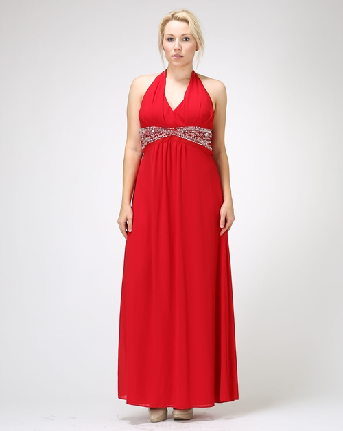 Halter Party Dress - orangeshine.com