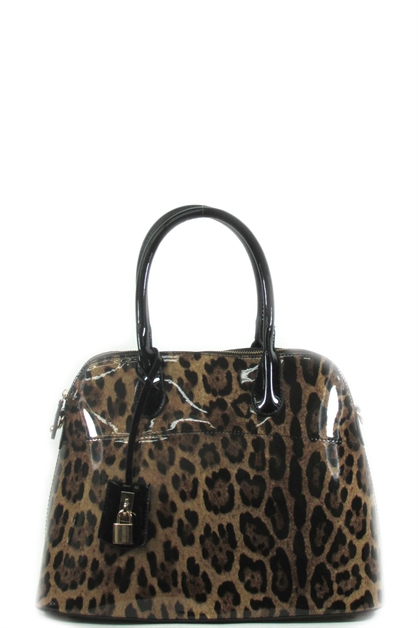Fashion leopard print satchel - orangeshine.com