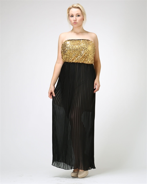 Sequin strapless party dress - orangeshine.com