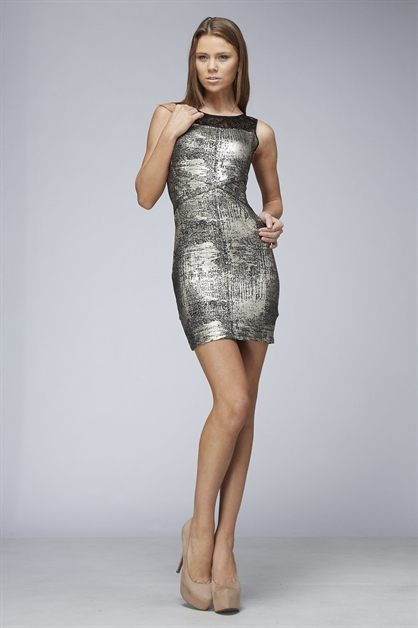 FOIL LACE DRESS - orangeshine.com