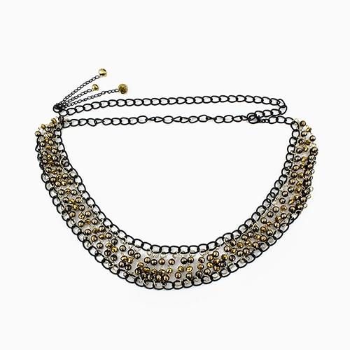 BEADS STATEMENT CHAIN BELT - orangeshine.com