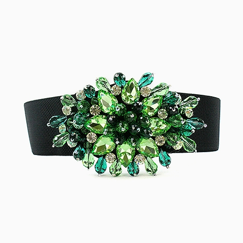 MULTI COLOR CRYSTAL BELT - orangeshine.com