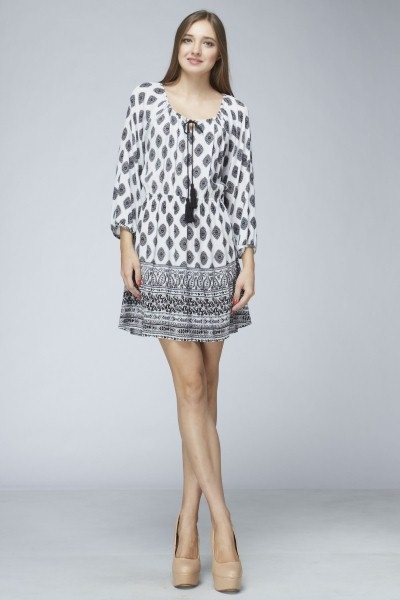 LONG SLEEVE TUNIC DRESS - orangeshine.com