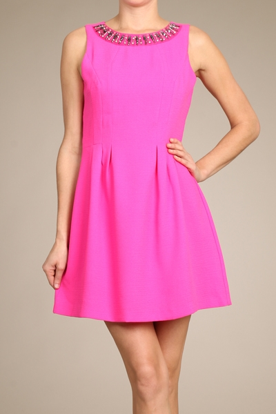 NECK TRIM DRESS - orangeshine.com