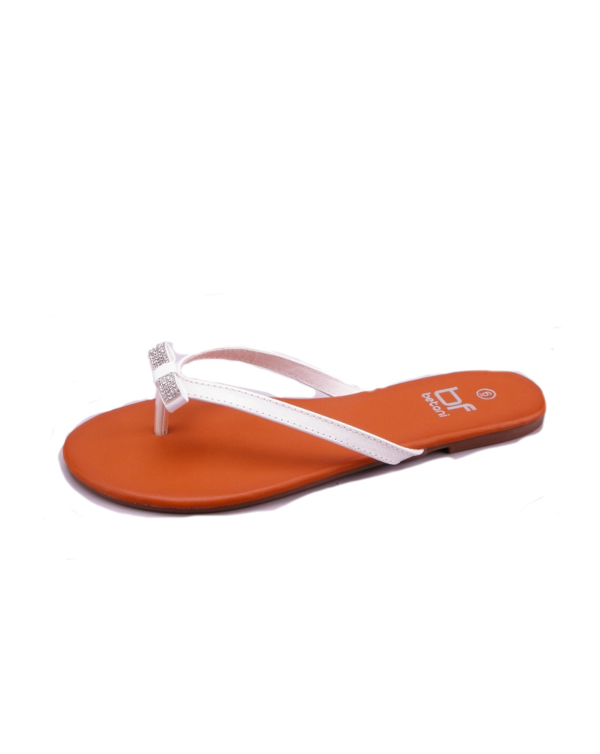 SINGLE STRAP FLIP-FLOPS WITH RIBBONS - orangeshine.com
