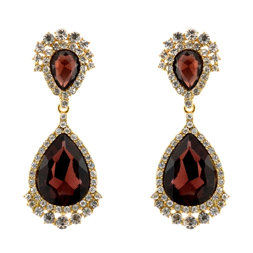 Alloy Rhinestone Earrings - orangeshine.com