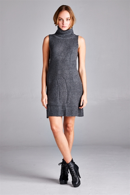 Kristen Turtleneck Dress - orangeshine.com