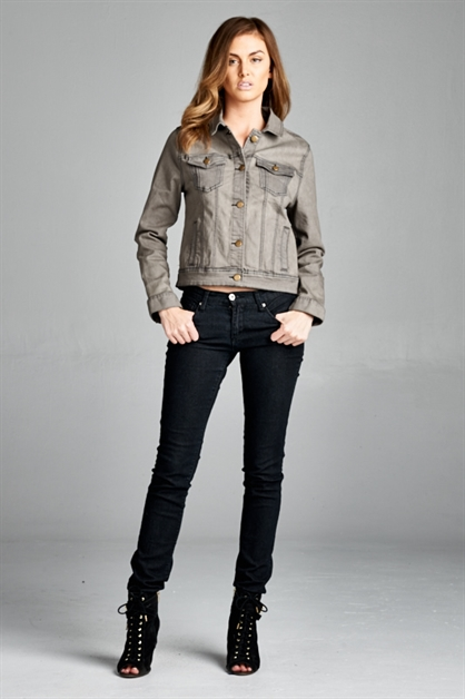 Grey Shade Denim Jacket - orangeshine.com