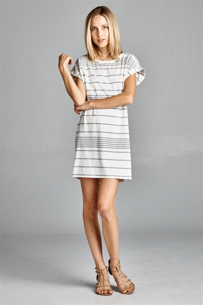 Kylie Anne Striped T-Dress - orangeshine.com