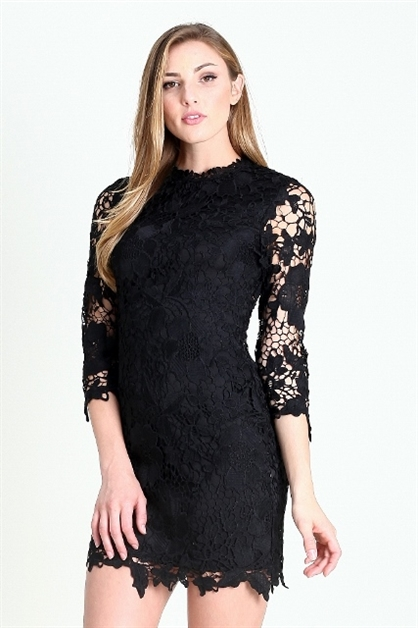IMPORTED  LACE DRESS - orangeshine.com