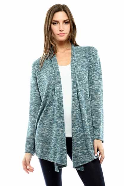 Two Tone Slub Cardigan - orangeshine.com