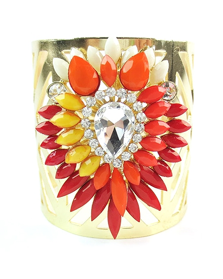 Red Cuff Bracelet - orangeshine.com
