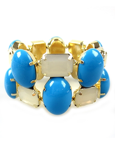 Blue Stretch Bracelet - orangeshine.com
