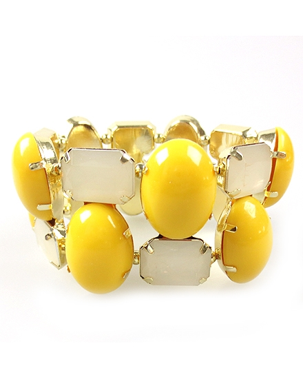 Yellow Stretch Bracelet - orangeshine.com