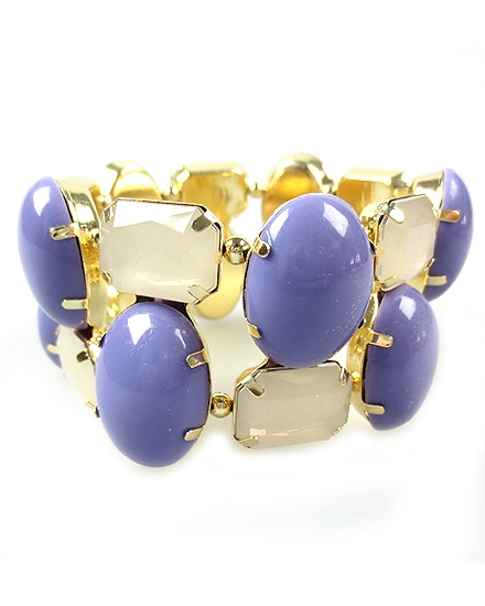 Violet Color Stretch Bracelet - orangeshine.com