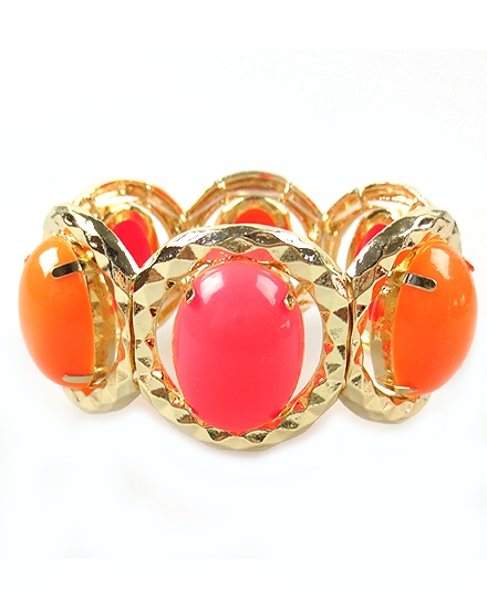 Fuchsia and Purple Bracelet - orangeshine.com