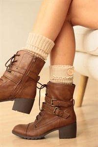 LEG WARMERS WITH BUTTON DETAIL - orangeshine.com