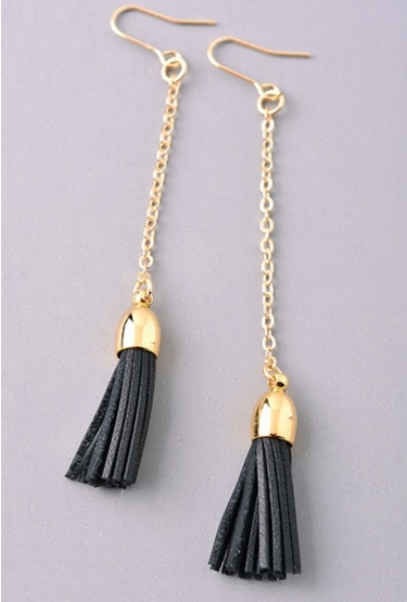 Drop Tassel Dangle Earrings - orangeshine.com