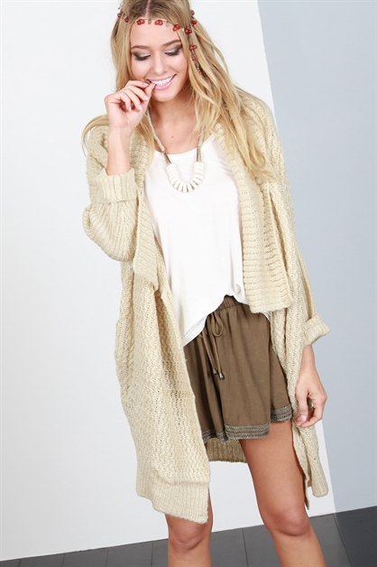3/4 sleeve cardigan - orangeshine.com