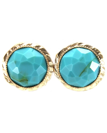 Turquoise Clip On Earring - orangeshine.com