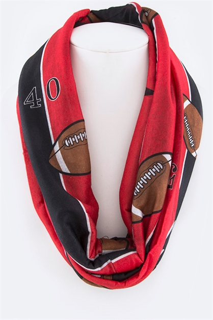 Football Infinity Scarf - orangeshine.com