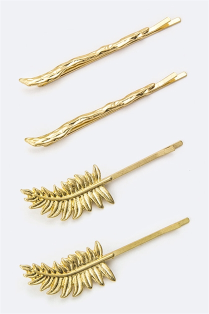 Leaf  Branch Bobby Pins Set - orangeshine.com