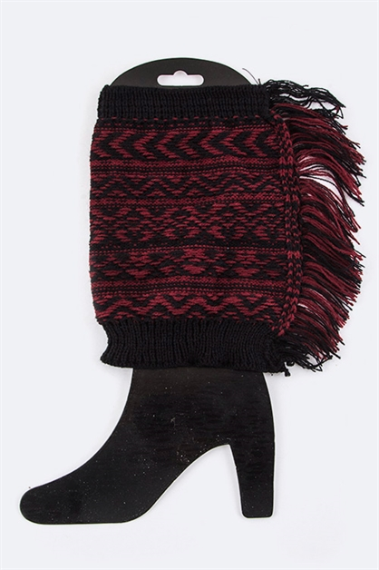 Chevron Knit Boot Toppers - orangeshine.com