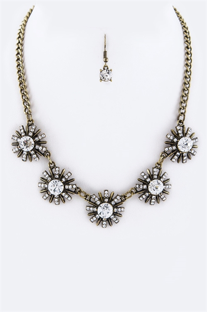 Crystal Stars Necklace Set - orangeshine.com