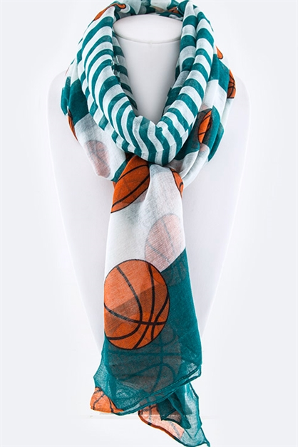 Team Color Basketball Scarf - orangeshine.com