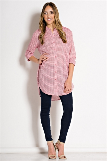 OVER SIZED BUTTON DOWN TOP - orangeshine.com