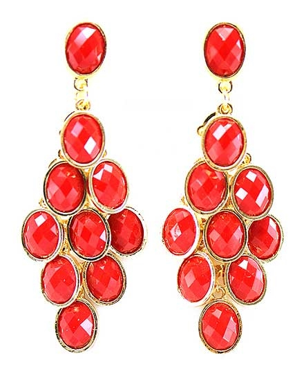 Red Cluster Earring - orangeshine.com