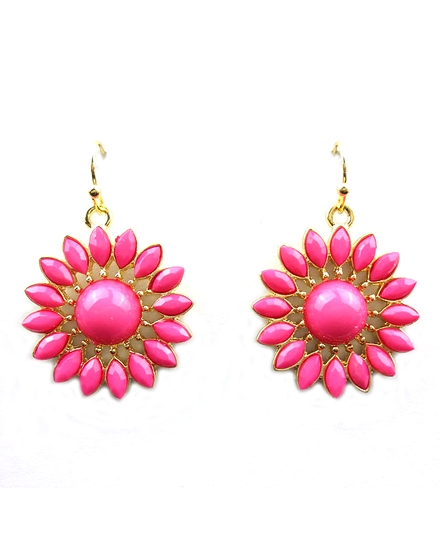 Cream Flower Earring - orangeshine.com