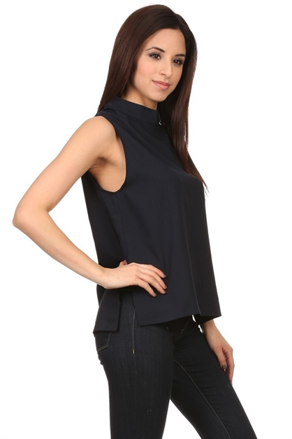 Sleeveless solid colored top - orangeshine.com