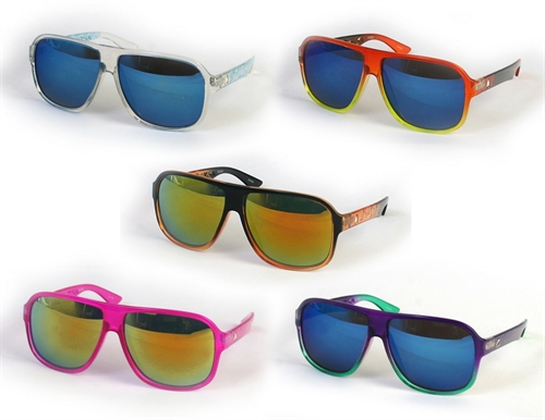 Color Frame Retro Aviators - orangeshine.com