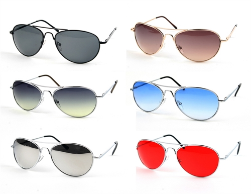 Metal Classic Color Aviators - orangeshine.com