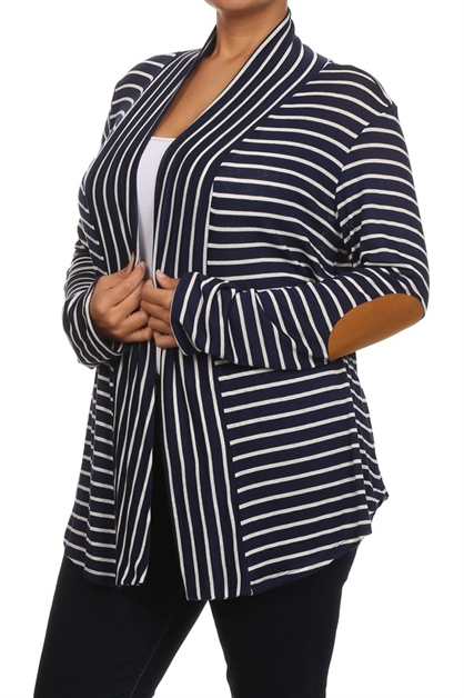 Cardigan w/ Elbow Patches - orangeshine.com