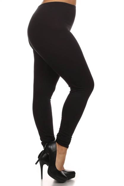 Thin Elastic Waist Leggings - orangeshine.com