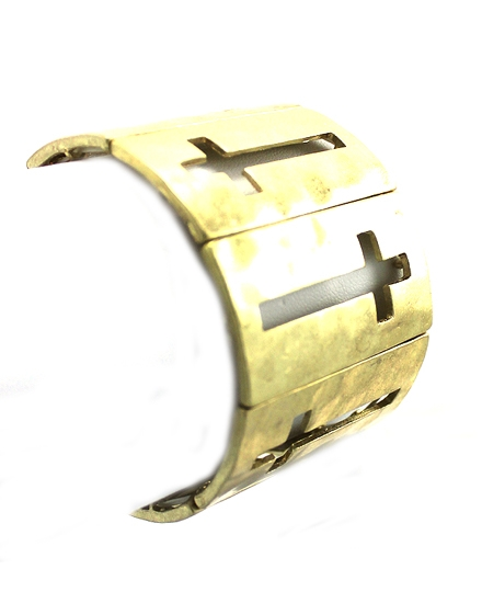 Gold Cross Cut Bracelet - orangeshine.com