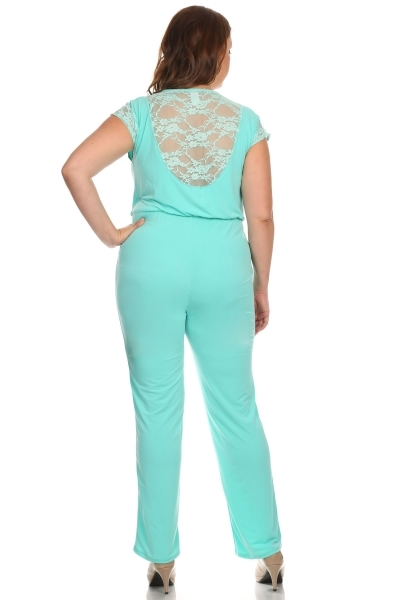 V-neck jumpsuit - orangeshine.com