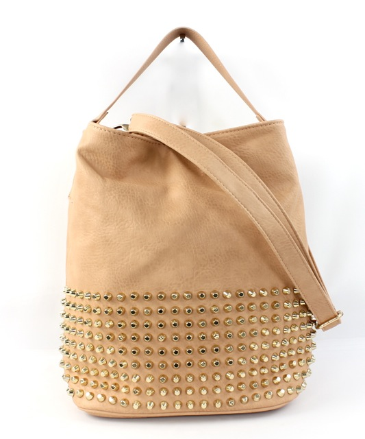 STUDDED BUCKET TOTE - orangeshine.com