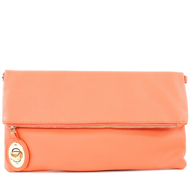 FOLDOVER ZIPPER LOCK CLUTCH - orangeshine.com