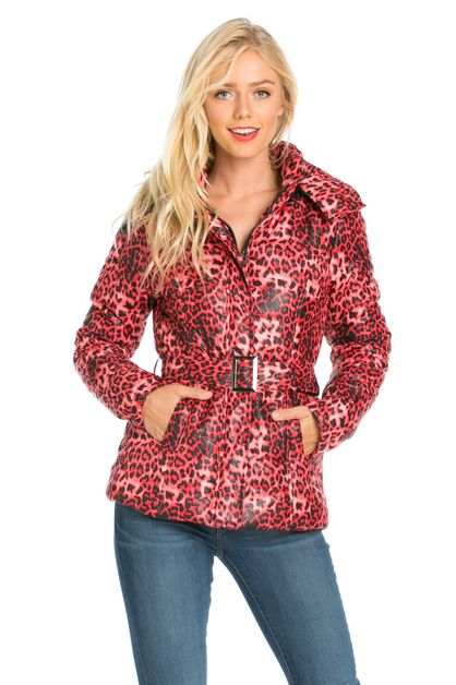 CHEETAH PRINT HOODED JACKET - orangeshine.com